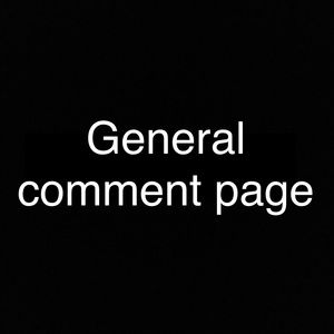 Other - *General comment page*